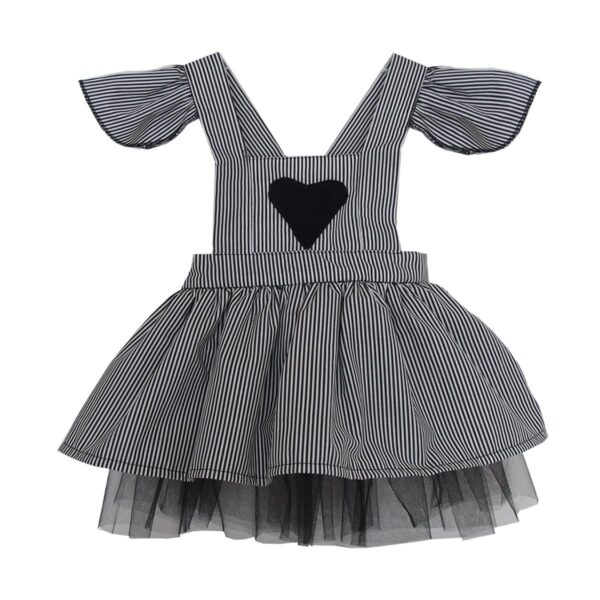 4ec759b45 Shecco Baby Girl Dress Heart Black-White - Turkish Products Store