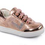 حذاء جلد بناتي رياضي أبيض تصميم حديث – صناعة تركية