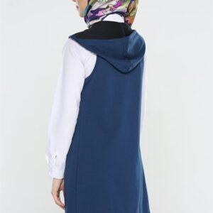 سترة نسائية زرقاء داكنة تصميم جذاب – صناعة تركية