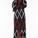 فستان نسائي مع معطف مزخرف تصميم جذاب – صناعة تركية