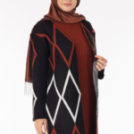فستان نسائي مع معطف مزخرف تصميم جذاب – صناعة تركية1