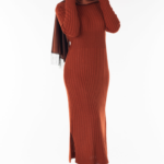 فستان نسائي مع معطف مزخرف تصميم جذاب – صناعة تركية2