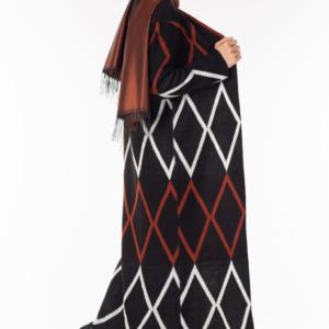 فستان نسائي مع معطف مزخرف تصميم جذاب - صناعة تركية