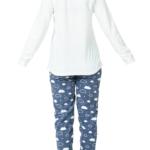 بيجامة نوم نسائية بيضاء تصميم جذاب – صناعة تركية1