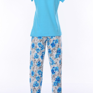 بيجامة نوم نسائية زرقاء تصميم رائع و جذاب - صناعة تركية