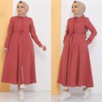 فستان نسائي بألوان مختلفة ورائعة تصميم حديث وأنيق 2 صناعة تركية – بيع بالجملة