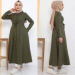فستان نسائي بألوان مختلفة ورائعة تصميم حديث وأنيق 4 صناعة تركية – بيع بالجملة