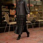 فستان نسائي جلد بتصميم أنيق ورائع – صناعة تركية – بيع بالجملة