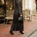 فستان نسائي جلد بتصميم أنيق ورائع 1 صناعة تركية – بيع بالجملة